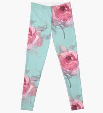 Roses in blushing pink Leggings