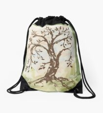 The Tree of Contemplation Drawstring Bag