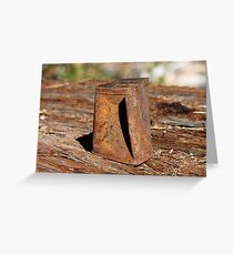 Rustic past Greeting Card