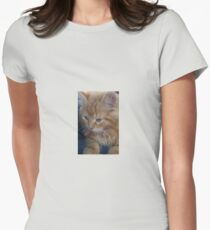The precious kitten Womens Fitted T-Shirt