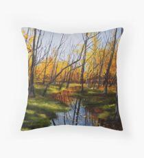 Autumn In The Swamp Floor Pillow