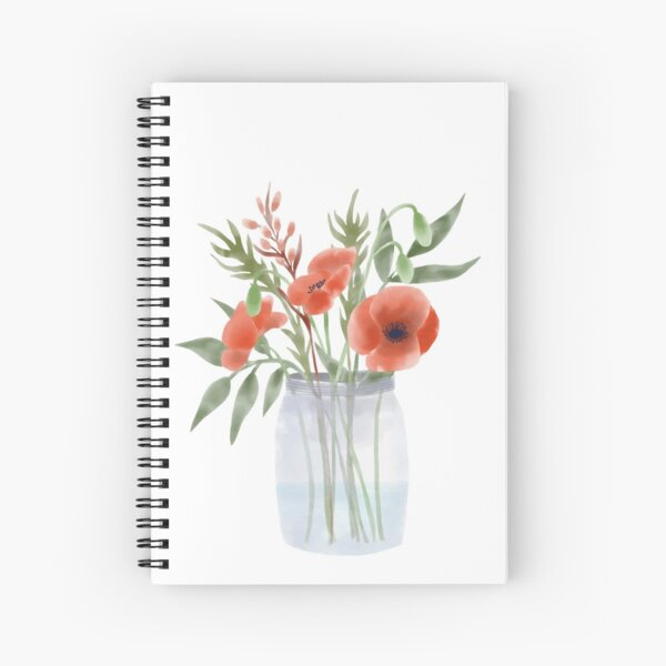 Bouquet with poppies Spiral Notebook