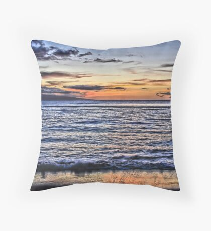 A Western Maui Sunset Throw Pillow