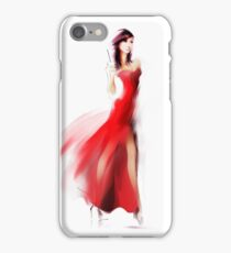 Beautiful fashionable woman in dress iPhone Case/Skin