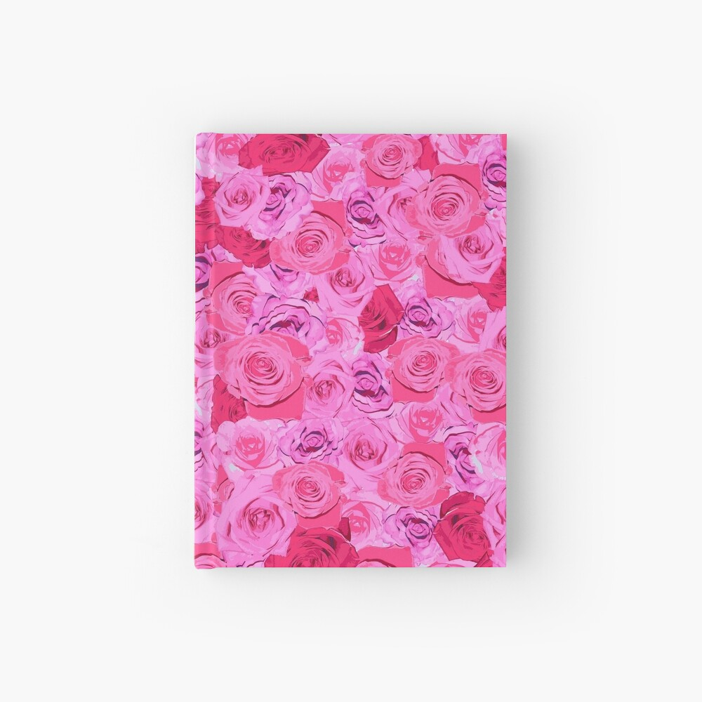 Floral Pink And Red Roses Tumblr Aesthetic Hardcover Journal By