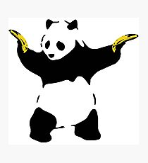 Bad Panda Stencil Photographic Print
