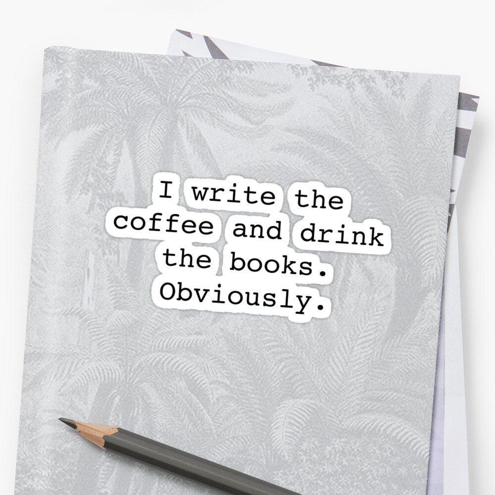Confused Writer Sticker