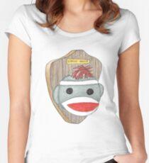 Sock Monkey Trophy Women's Fitted Scoop T-Shirt