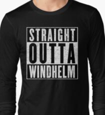 Adventurer with Attitude: Windhelm Long Sleeve T-Shirt