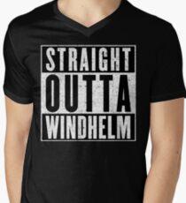Adventurer with Attitude: Windhelm Mens V-Neck T-Shirt