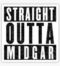 Midgar Represent! Sticker