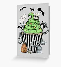 Gothic Cupcake  Greeting Card