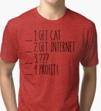 My Retirement Plan (Whiteboard Version) Tri-blend T-Shirt