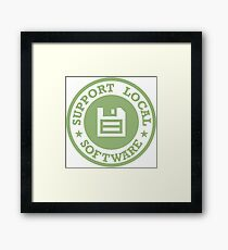Support Local Software Framed Print