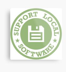 Support Local Software Metal Print