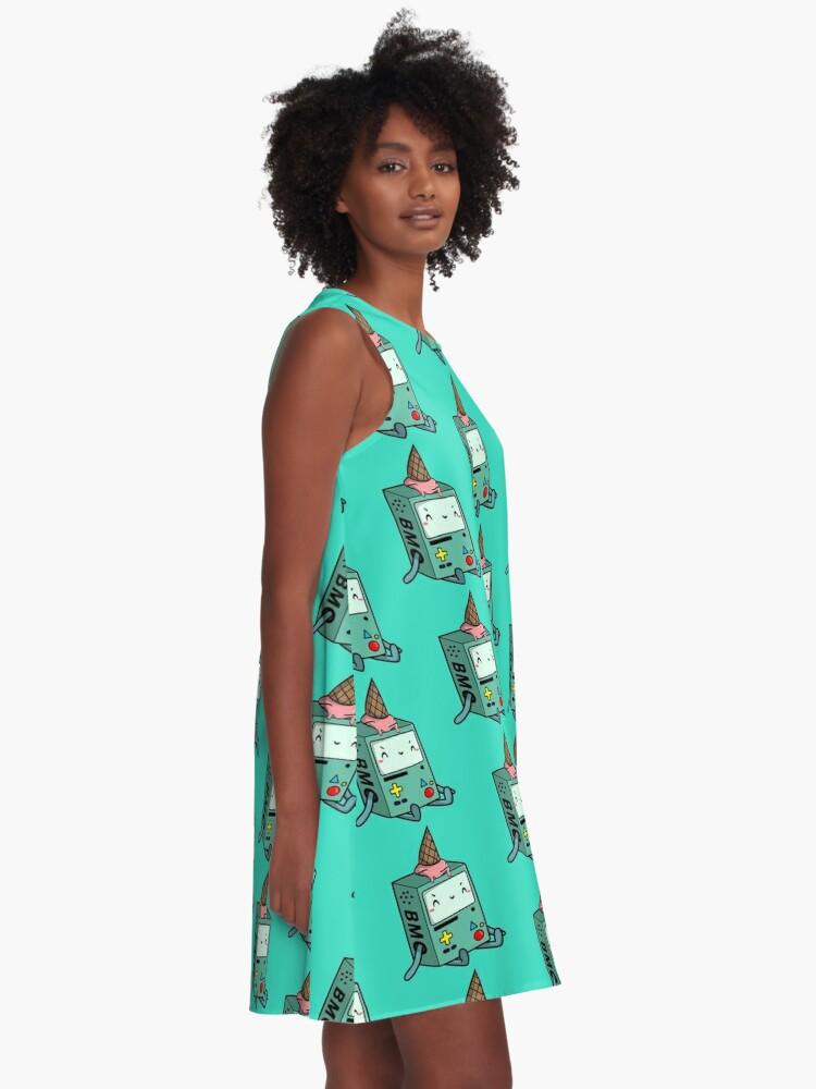 Alternate view of BMO adventure time A-Line Dress