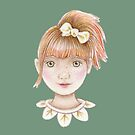 cute red head little girl with pony tail  by trudette