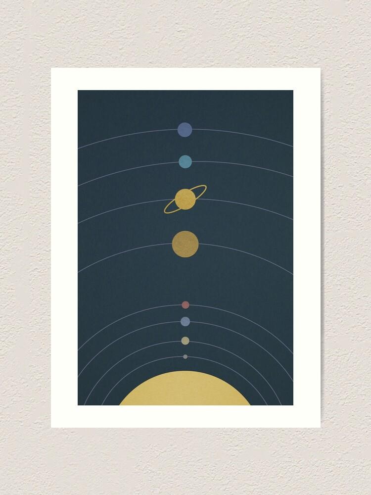 Alternate view of Solar System Art Print