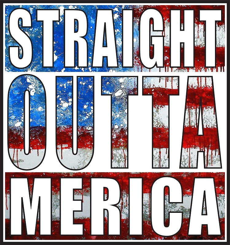 """Straight Outta Merica"" Greeting Cards by straightoutta ..."