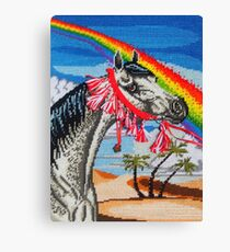 Arabian Needlepoint, With Tassels Canvas Print