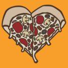Pizza Heart by DetourShirts