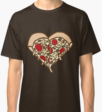 Pizza Heart Classic T-Shirt