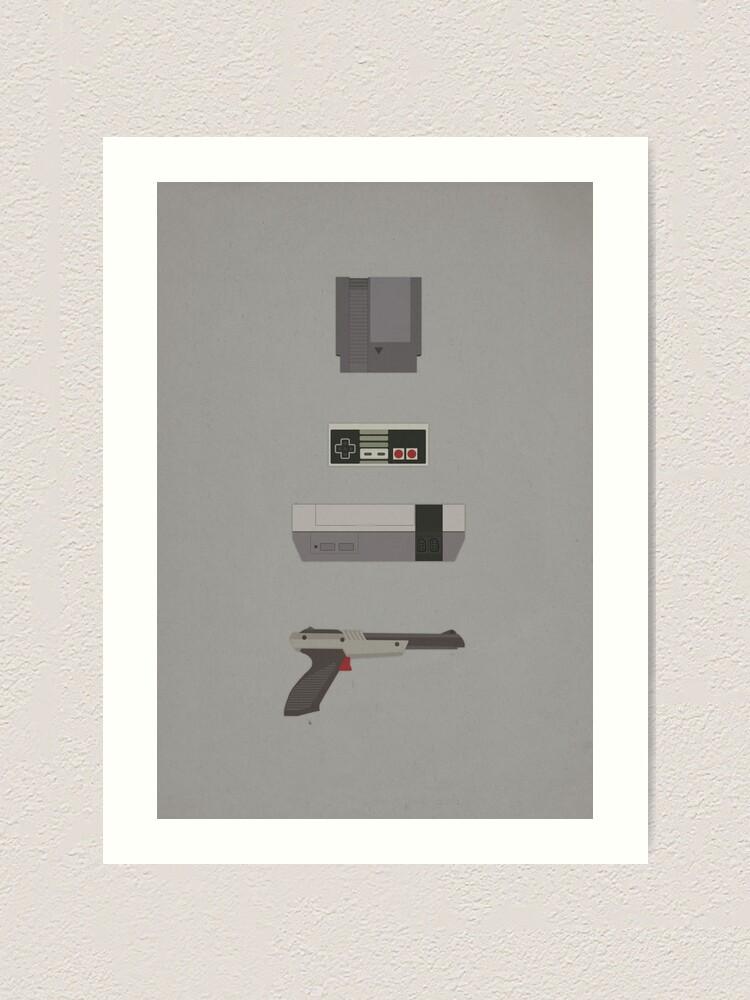 Alternate view of 8-Bit love (NES) Art Print