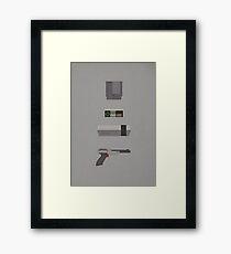 8-Bit love (NES) Framed Print