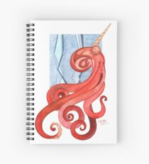 Magic Octopus - Red Spiral Notebook