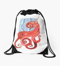 Magic Octopus - Red Drawstring Bag