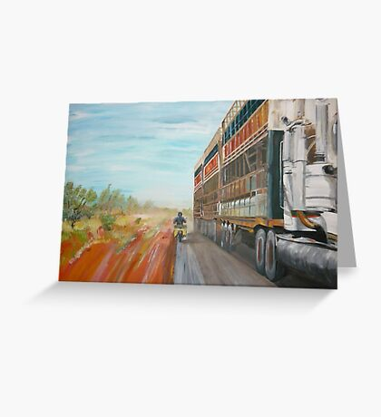 The Camooweal Track - Cattle Truck Greeting Card