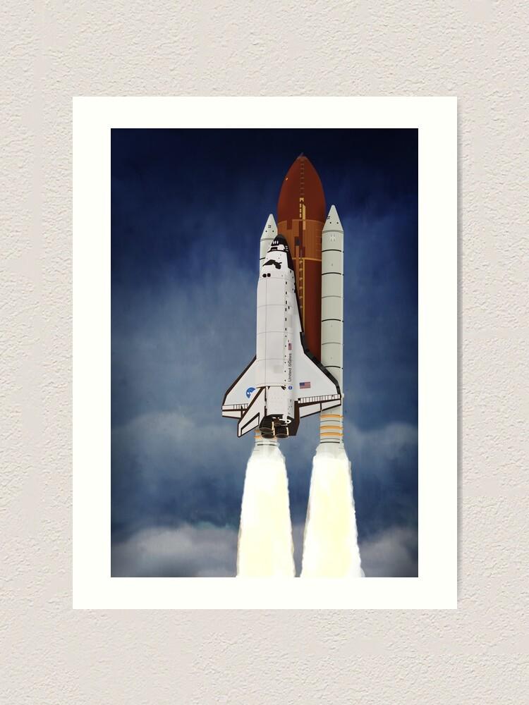 Alternate view of Space Shuttle 1981-2011 Art Print