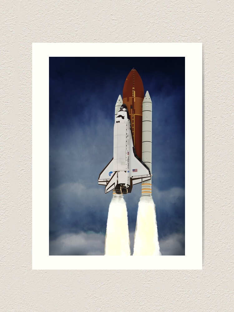 Alternate view of Space Shuttle 1981-2011 Art Print