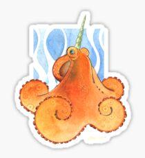 Magic Octopus - Orange Sticker