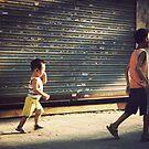 China : Kids walking by Jeremy  Barré