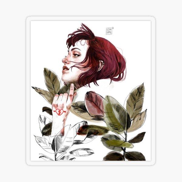 Broken heart Transparent Sticker