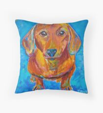 Foxy Doxie Throw Pillow