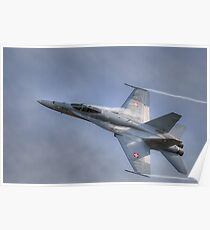 FA-18 Hornet - Swiss Air Force  Poster