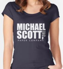 Michael Scott Paper Company Women's Fitted Scoop T-Shirt