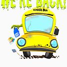 Funny Back To School Monster Bus for Students by SoCoolDesign