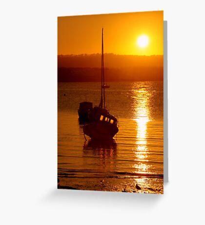 Skerries Harbour October Sunset  Greeting Card
