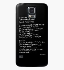 Black turns to blue Case/Skin for Samsung Galaxy