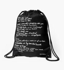 Black turns to blue Drawstring Bag
