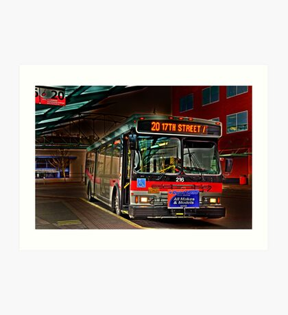 City bus reflections  Art Print