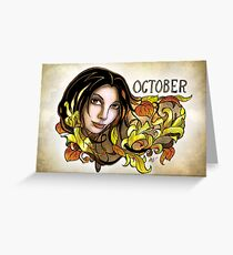 Dee of October Greeting Card