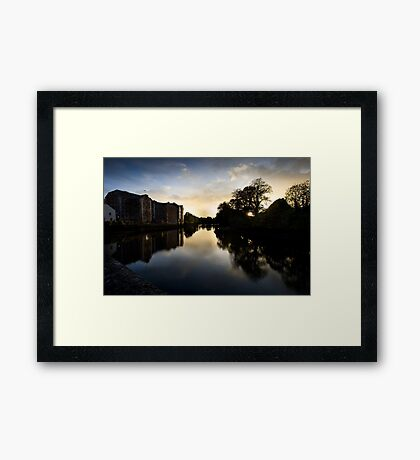 UpRiver On The Lee By The Maltings Framed Print