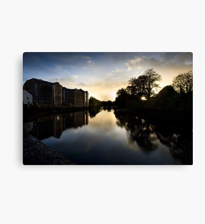 UpRiver On The Lee By The Maltings Canvas Print
