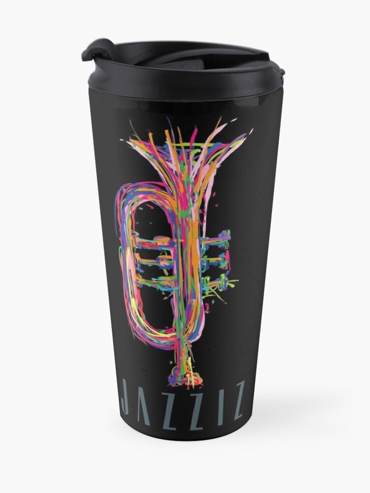 "Alternate view of JAZZIZ ""Trumpet"" Travel Mug"