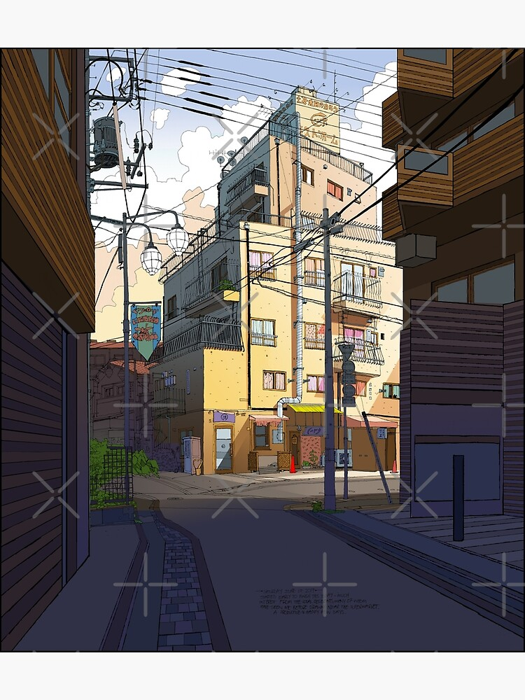 Morning Apartments Tokyo by bcedraws