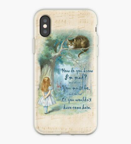 Cita de Alicia en el país de las maravillas: cómo sabes que estoy loco Vinilo o funda para iPhone